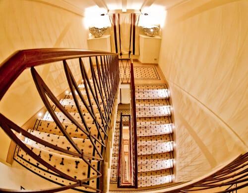 Victoria Hotel Letterario Trieste, staircase