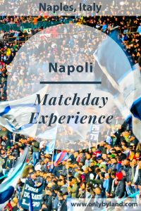 A visit to the Stadio San Paolo to watch Napoli play a football match against AC Milan.