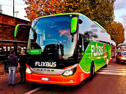 How to get from Rome to Naples. The Flixbus bus.