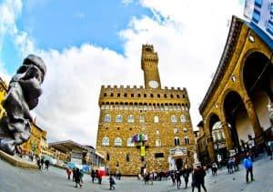 Palazzo Vecchio (Florence Town Hall) and Piazza della Signoria