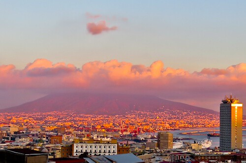 Mount Vesuvius Volcano - location