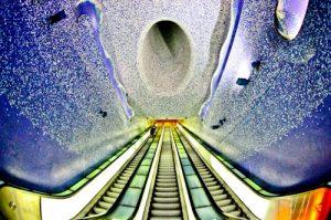 Toledo new art metro station, Naples