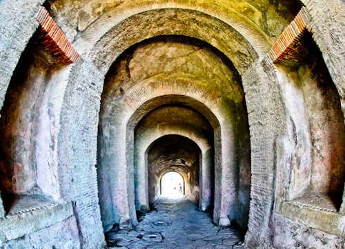 Amphitheater of Pompeii, Ancient Pompeii - Entrance tunnel