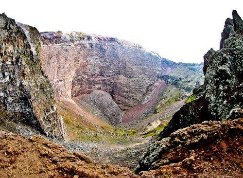 Mount Vesuvius Volcano - crater