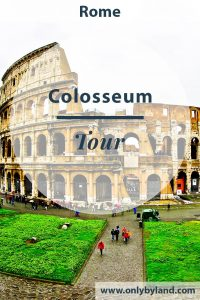 A tour of the Colosseum, Flavian Amphitheater in Rome, Italy