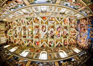 sisteth chapel frescoes by Michelangelo, Vatican City,
