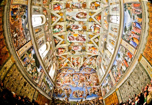 The Last Judgement by Michelangelo, Sistine Chapel, Vatican City