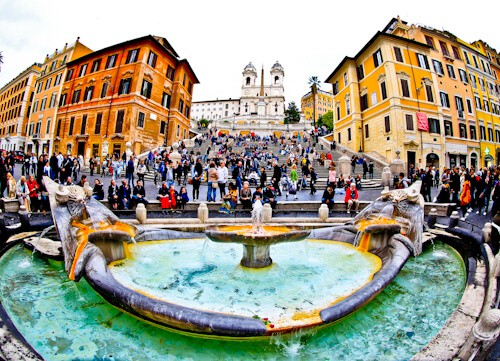 Spanish Steps and Piazza di Spagna, Rome