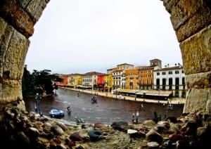 Verona Arena, Roman Amphitheater, Italy - arena with a view