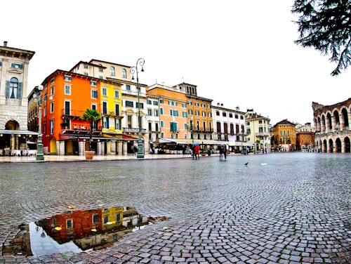 Bra Square (Piazza Bra) in the UNESCO city of Verona