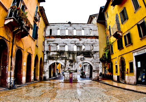 Porta Borsari Roman Gate, Verona UNESCO world heritage city