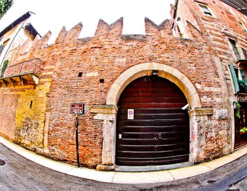 Romeo's house in the UNESCO city of Verona