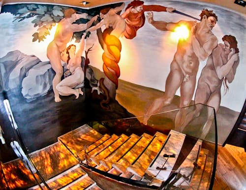 Astoria Boutique Hotel, Kotor Montenegro - the last judgement mural