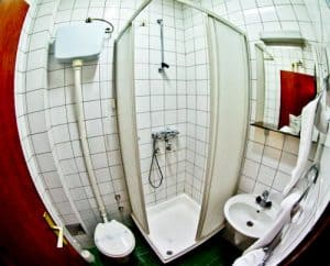 Hotel Central Osijek, Croatia - en suite bathroom