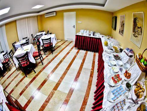 Hotel Central Osijek, Croatia - complimentary buffet breakfast