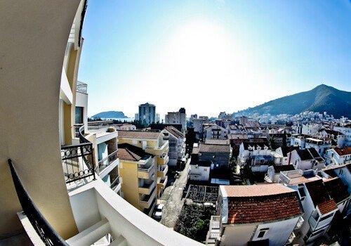 Hotel Kadmo, Budva, Montenegro, balcony view of Budva
