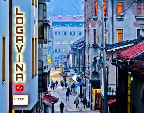 Hotel Logavina 8, Sarajevo - location