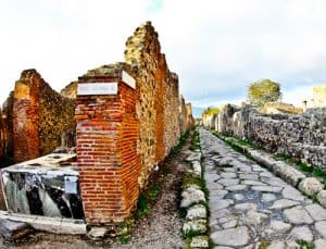 The streets of Ancient Pompeii