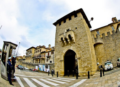 San Marino city gates and walls
