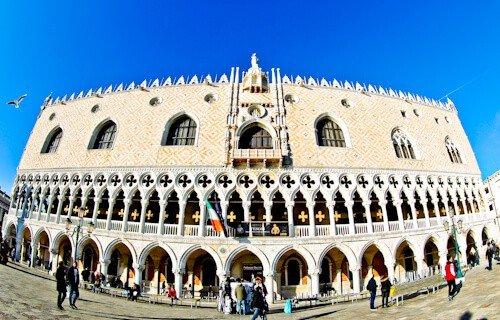 Venice Landmarks - Doge's Palace, St Mark's Square, Venice