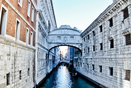 Venice Landmarks - Bridge of Sighs
