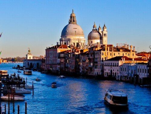 Venice Landmarks - Church of San Giorgio Maggiore, grand canal
