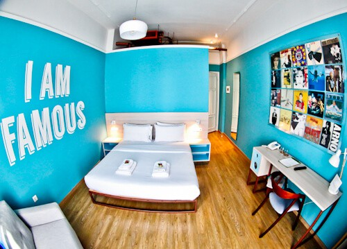 Colors Urban Hotel Thessaloniki Greece - travel blogger review - Music Guest Room