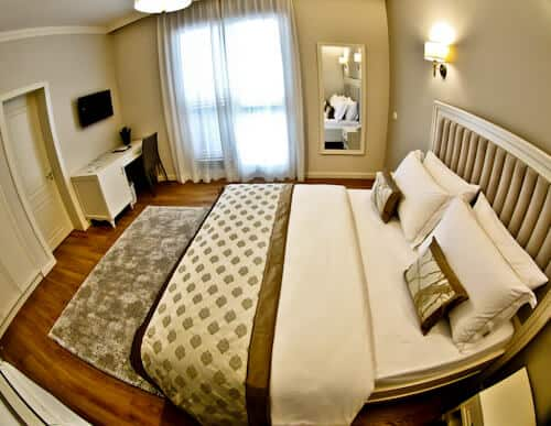 Hotel Amfiteatri Boutique Hotel Durres, Albania - guest bedroom, excellent bedding, sheets, pillows