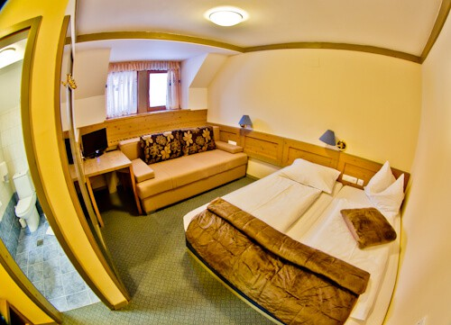 Hotel Krvavec, Ski Resort, Slovenia - Travel Blogger Review - guest room with en suite bathroom