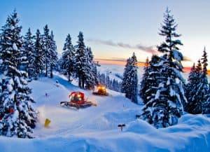 Hotel Krvavec, Ski Resort, Slovenia - Travel Blogger Review - piste caterpillar, ski slope