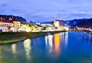 Savinja river, Lasko, Slovenia
