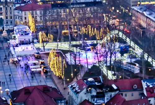 Things to do in Ljubljana - Slovenia - Ice Skating Rink, Congress Square