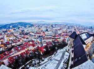 Ljubljana Castle and view of the city