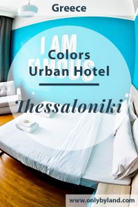 COLORS Urban Hotel is a modern boutique hotel located in Thessaloniki Greece. It's located within walking distance of all the points of interest of the city. There is a delicious breakfast buffet served in the bar.