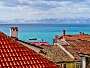 Vila Mal Sveti Kliment, Bed and Breakfast, Winery, Ohrid, Macedonia - Travel Blogger Review - a room with a UNESCO view of Ohrid Lake