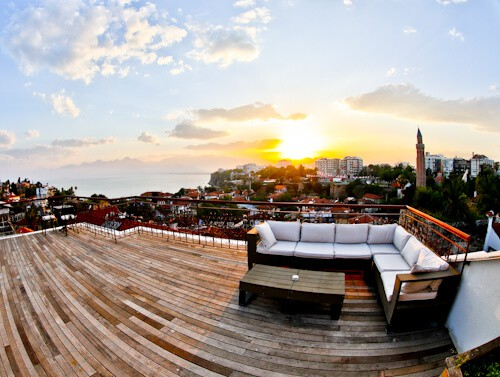 Patron Boutique Hotel - Antalya Turkey Hotels - rooftop terrace