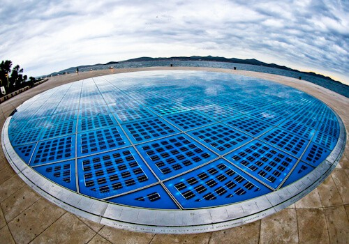 Zadar Croatia - Monument to the Sun