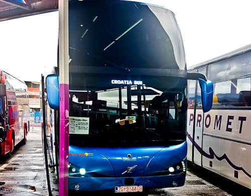 Zadar to Split Croatia by bus