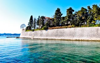 Zadar Croatia old town walls walk