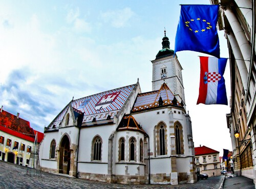 St. Mark's Church, Zagreb Croatia