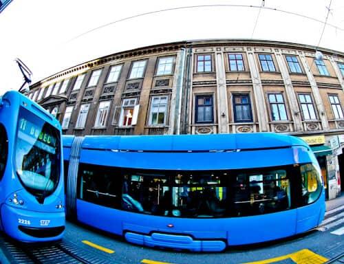 tram zagreb croatia