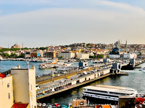Istanbul Hotels - Hotel Momento Golden Horn - breakfast terrace view