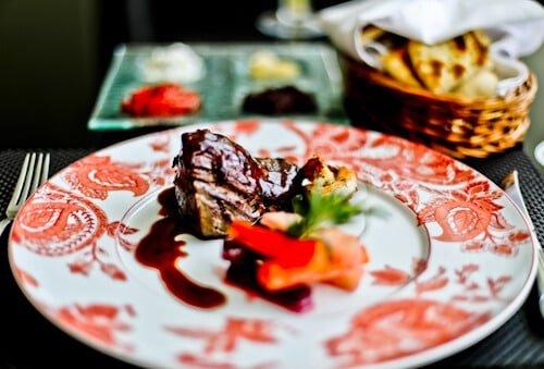 Sofia Balkan Hotel - Bulgaria - steak dinner