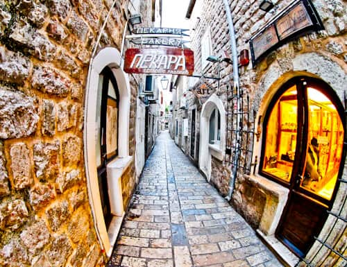 Budva Montenegro - Old Town streets