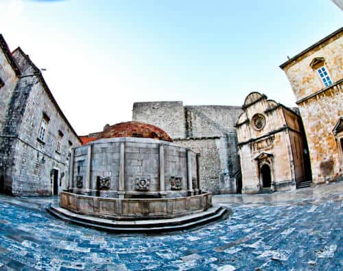Dubrovnik Croatia - Things to do in the UNESCO city - Revelin Fortress - Onofrio's Fountain
