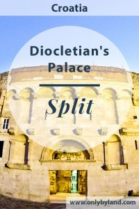 Diocletian's Palace - UNESCO world heritage site in Split Croatia and Game of Thrones location.