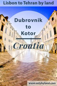 Dubrovnik Croatia - Things to do in the UNESCO old town and Game of Thrones filming location. Additionally, how to travel to Kotor Montenegro.