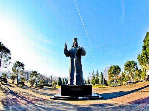 Podgorica Montenegro - Petar I Petrovic Njegos statue
