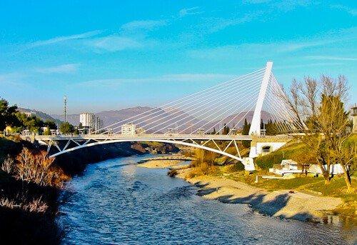 Podgorica Montenegro - Millenium bridge