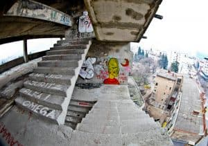 Mostar Sniper Tower - Staircase